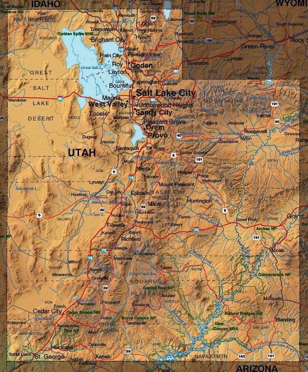 Show MeUtah - Show me a map of utah
